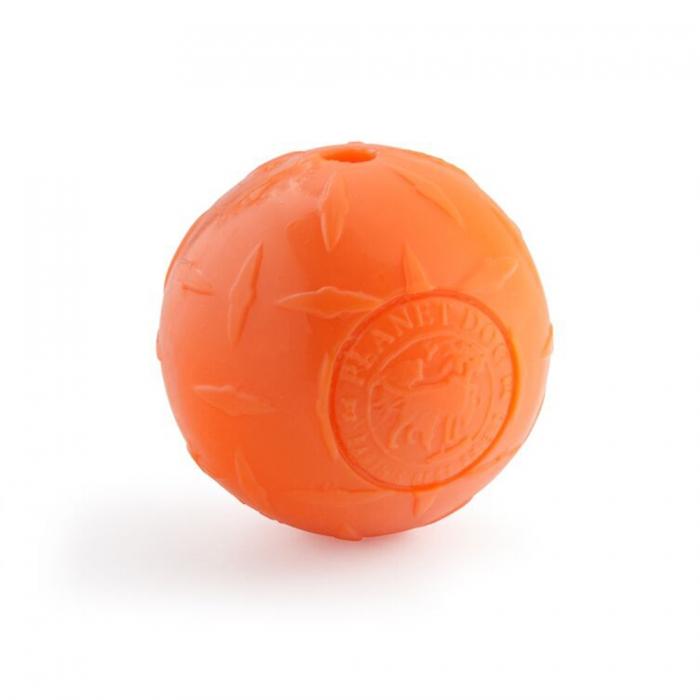 Planet Dog Orbee-Tuff Diamond Plate Ball Dog Toy, Orange, Small