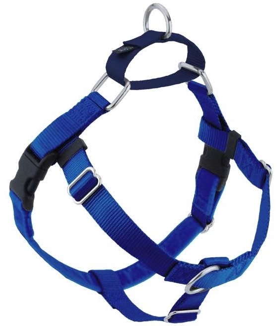 2 Hounds Design Freedom No Pull Dog Harness, Blue, 1-in, Medium