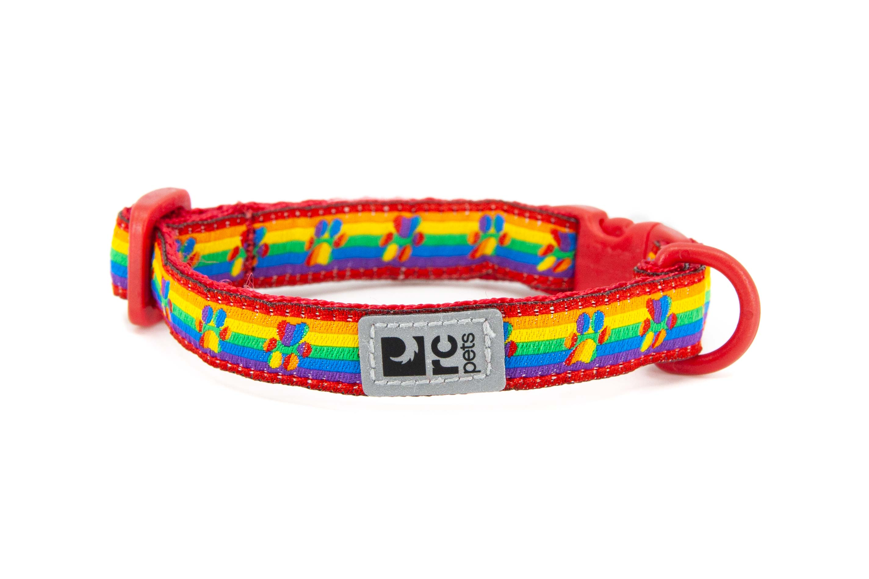 RC Pet Products Breakaway Cat Collar, Rainbow Paws Image