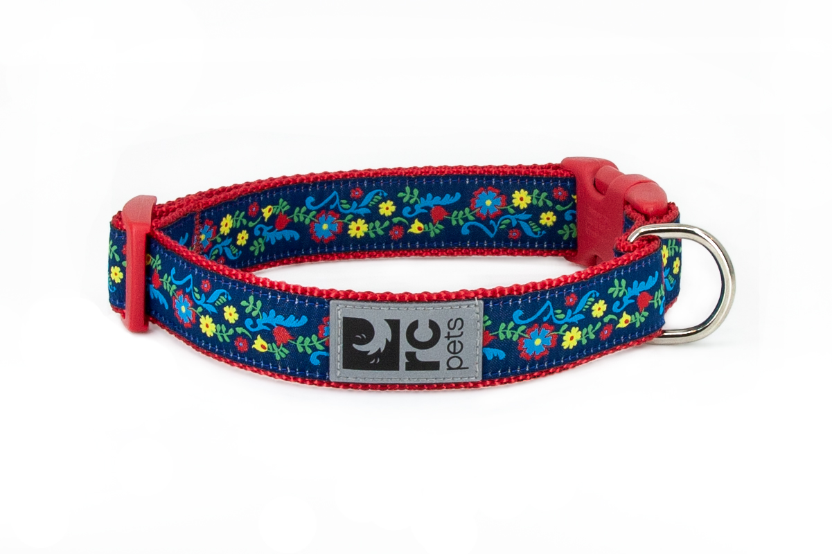 RC Pet Products Clip Dog Collar, Feeling Folksy, Medium