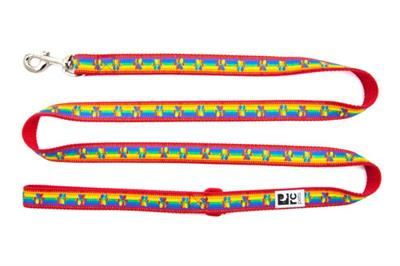 RC Pet Products Dog Lead, Rainbow Paws, 1-in x 6-ft