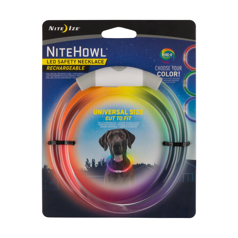 Nite Ize NiteHowl LED Safety Dog Necklace, Disc-O-Select