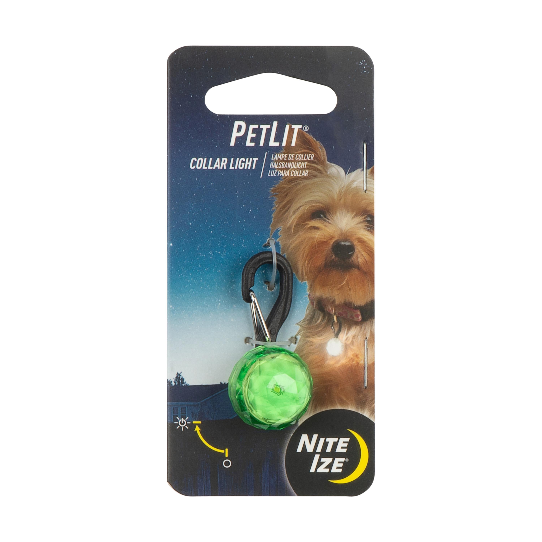 Nite Ize PetLit LED Light Dog Collar, Lime Jewel