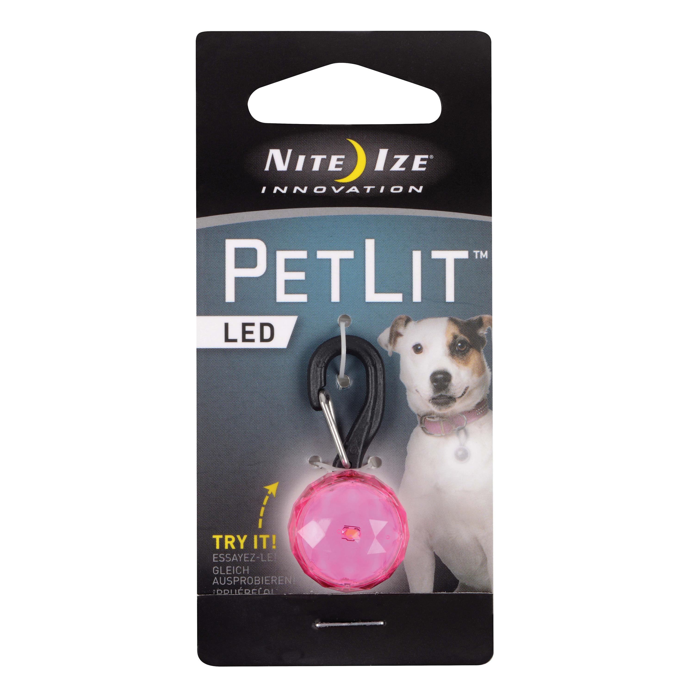 Nite Ize PetLit LED Light Dog Collar, Pink Jewel Image