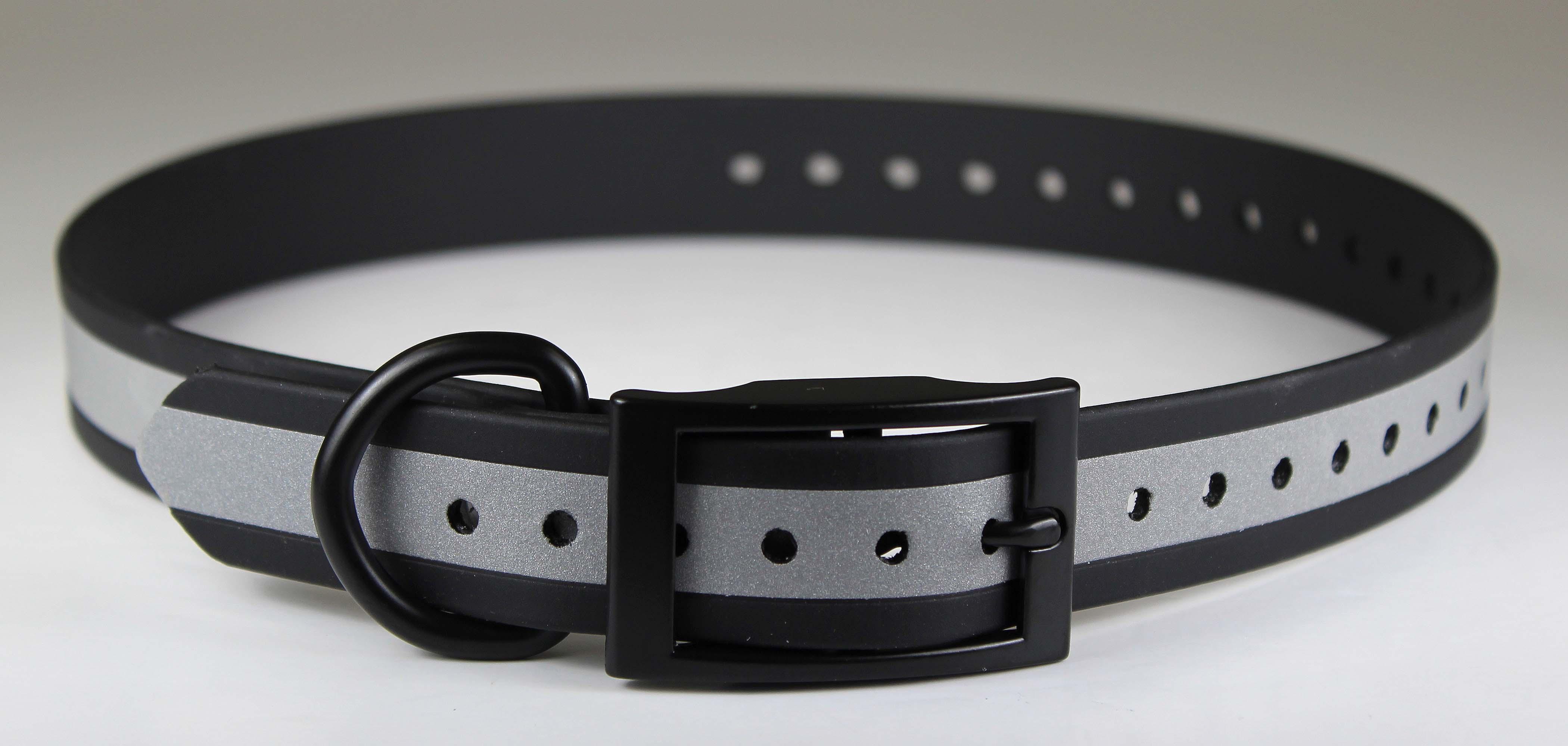 Omnipet Zeta Reflective Dog Collar, Black