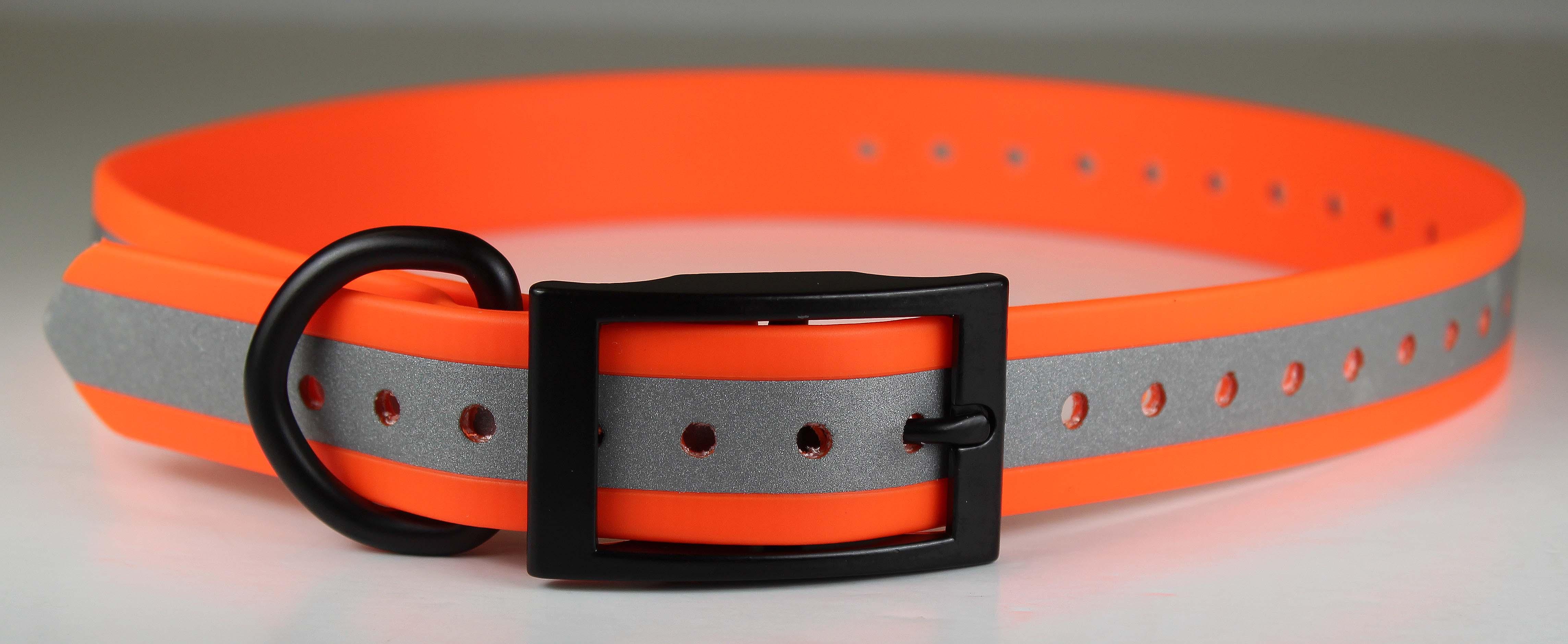 Omnipet Zeta Reflective Dog Collar, Orange