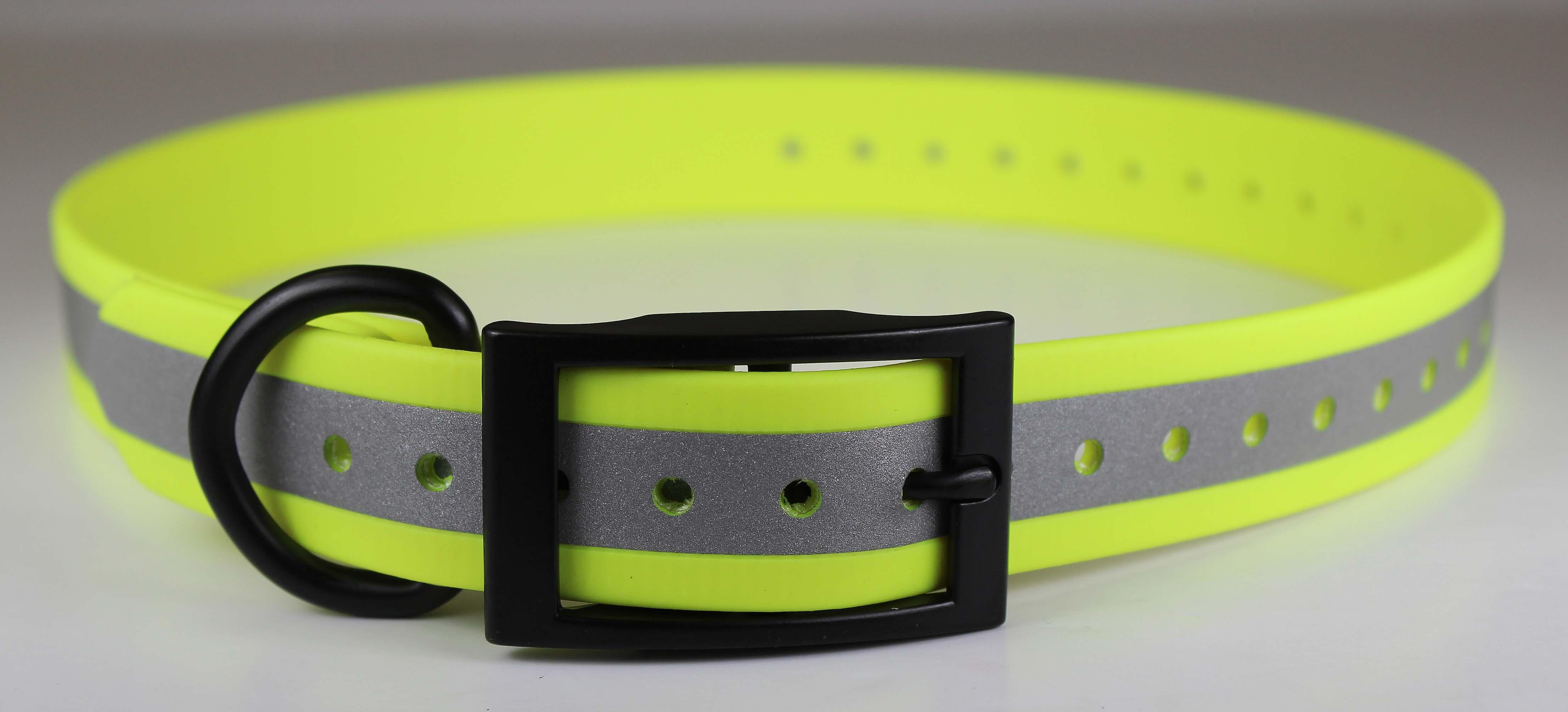 Omnipet Zeta Reflective Dog Collar, Yellow