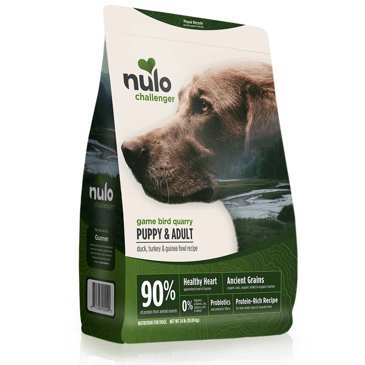 Nulo Challenger Game Bird Quarry Duck, Turkey & Guinea Fowl Puppy & Adult Dry Dog Food, 4.5-lb