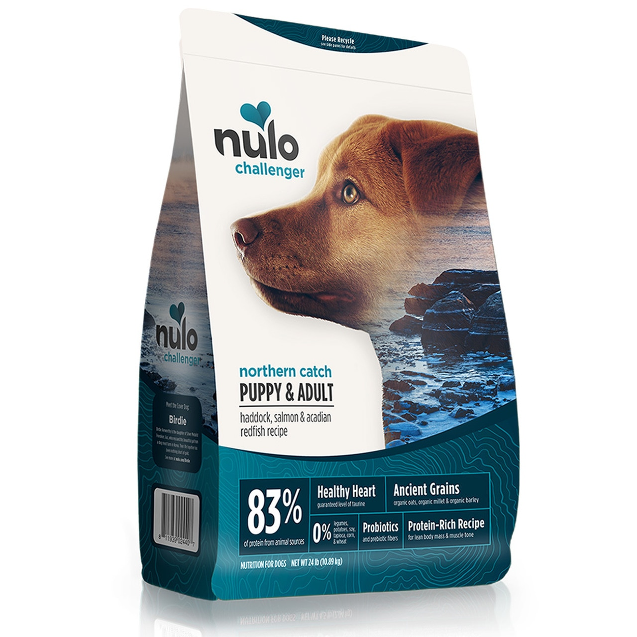 Nulo Challenger Northern Catch Haddok, Salmon & Redfish Puppy & Adult Dry Dog Food, 4.5-lb