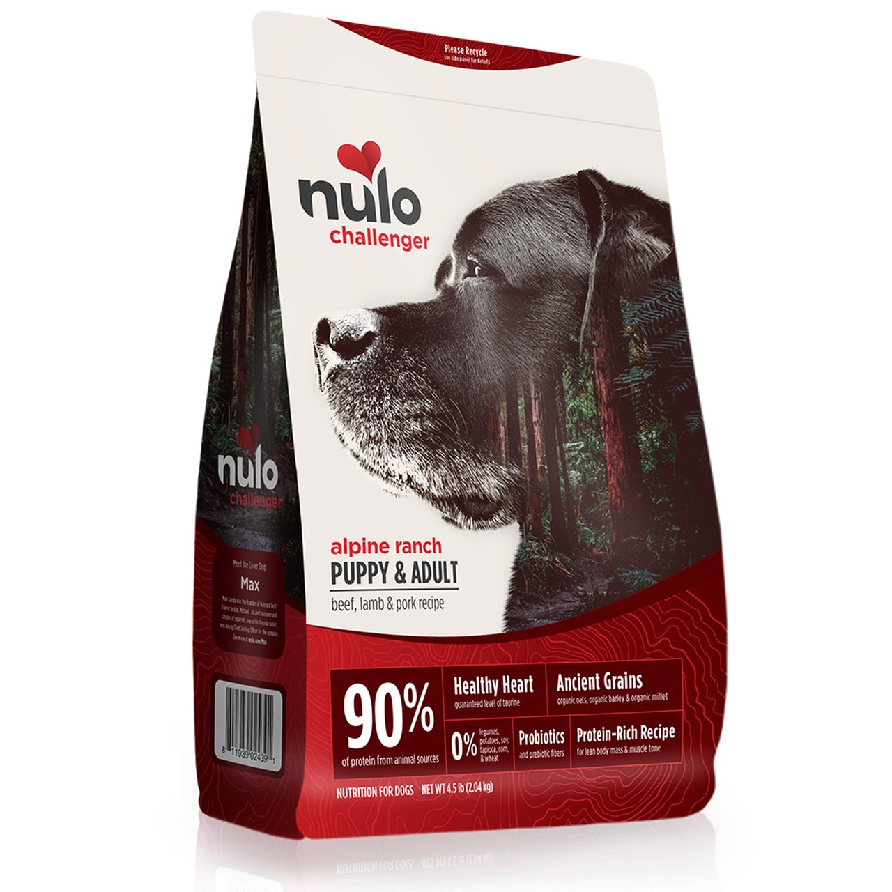 Nulo Challenger Alpine Ranch Beef, Lamb & Pork Puppy & Adult Dry Dog Food, 24-lb