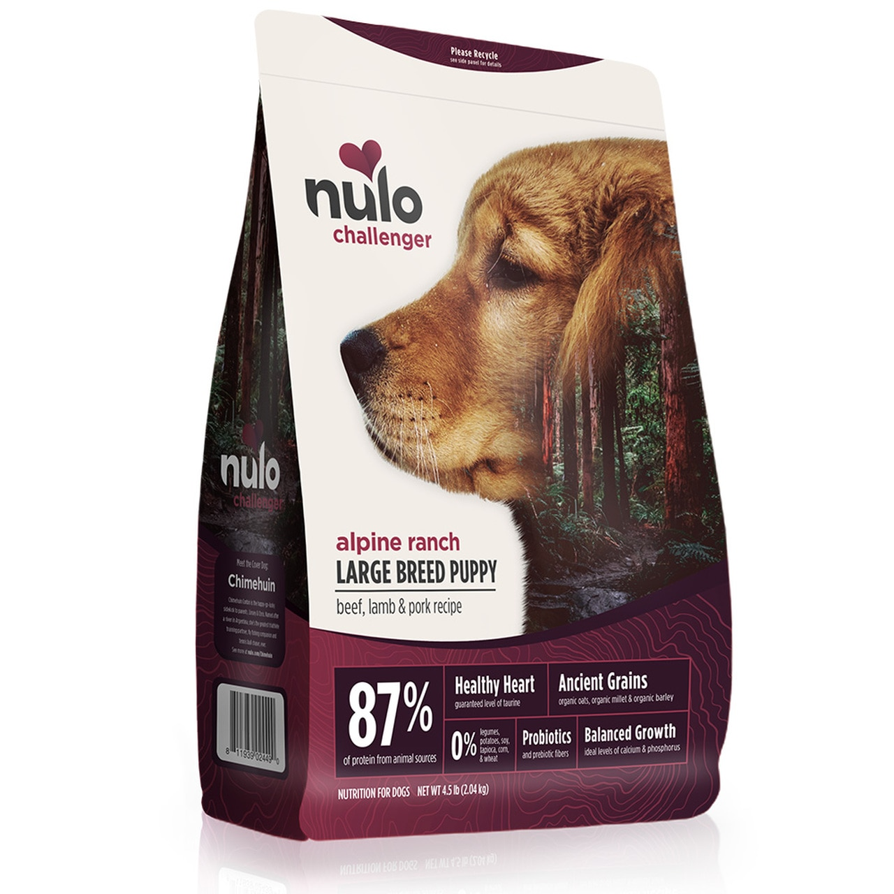 Nulo Challenger Alpine Ranch Beef, Lamb & Pork Large Breed Puppy Food, 24-lb