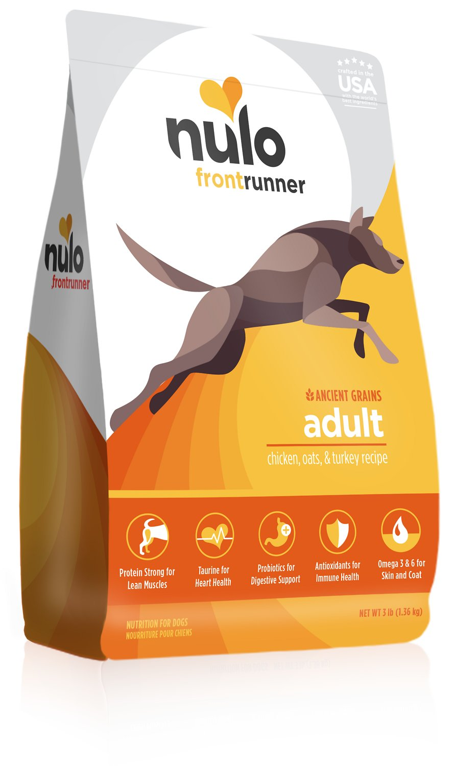 Nulo Frontrunner Ancient Grains Chicken, Oats & Turkey Adult Dry Dog Food, 3-lb