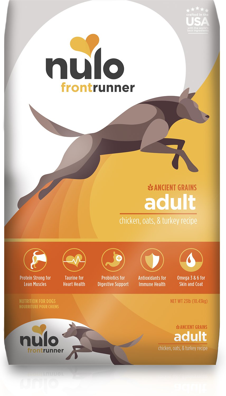 Nulo Frontrunner Ancient Grains Chicken, Oats & Turkey Adult Dry Dog Food, 23-lb