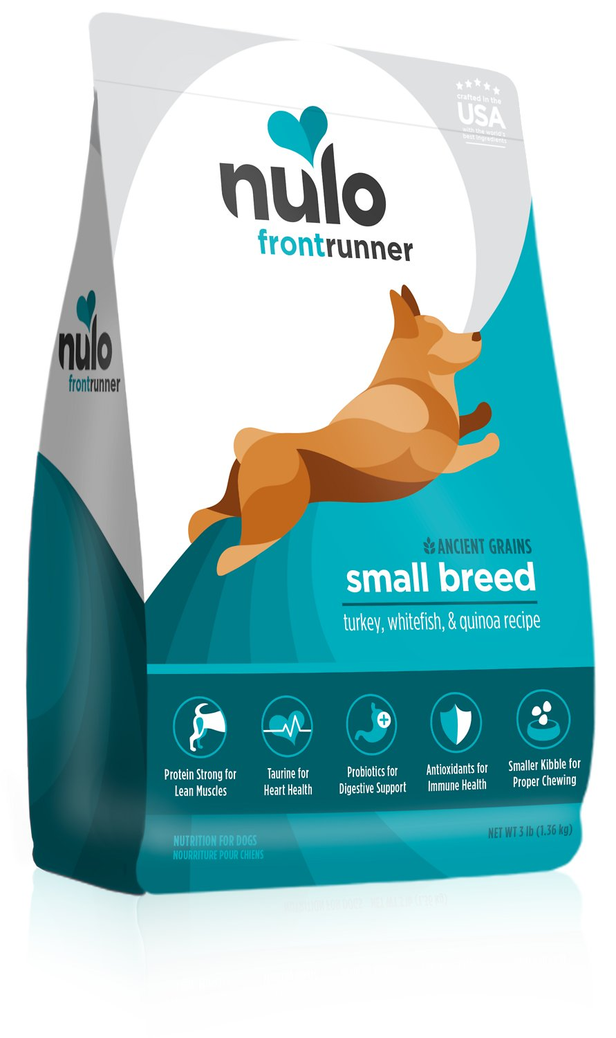 Nulo Frontrunner Ancient Grains Turkey, Whitefish & Quinoa Small Breed Dry Dog Food Image