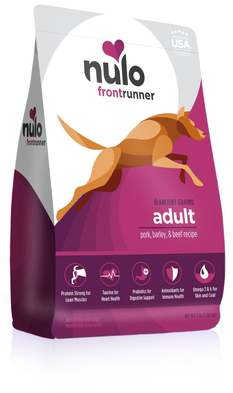 Nulo Frontrunner Ancient Grains Pork, Barley & Beef Adult Dry Dog Food, 3-lb