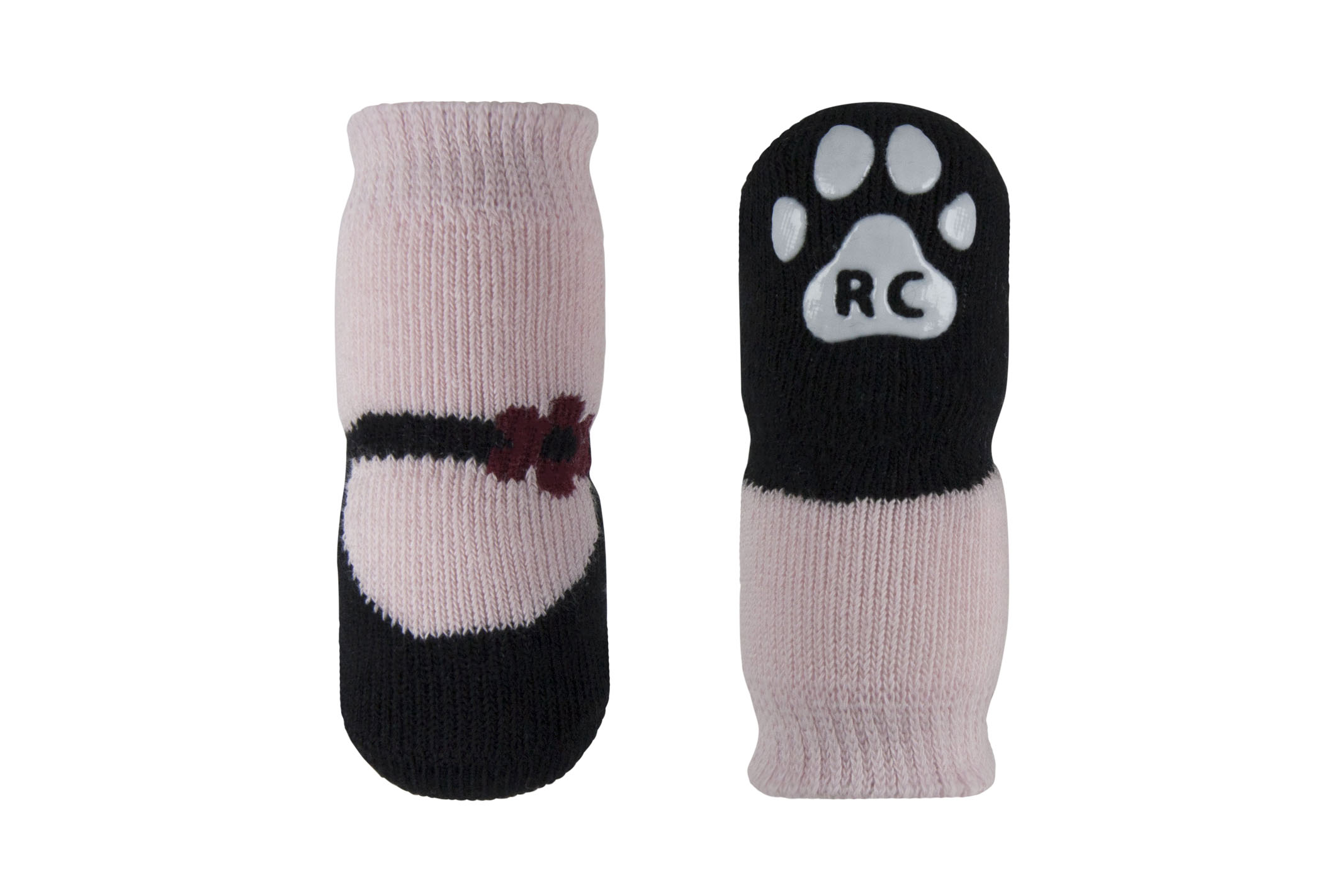 RC Pet Products PAWks Dog Socks, Pink Mary Janes, X-Small