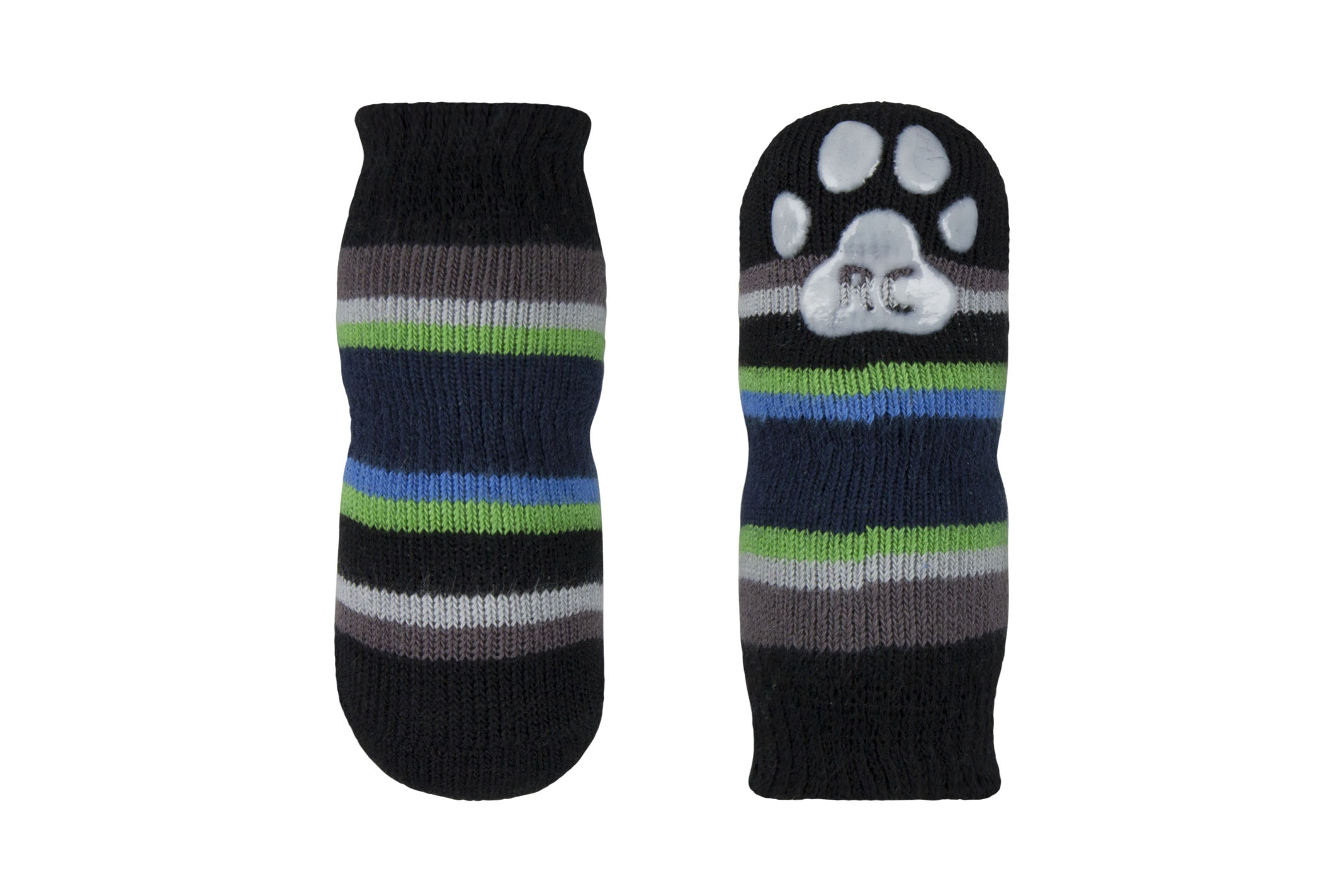 RC Pet Products Pawks Dog Socks, Stripe Blue, Small