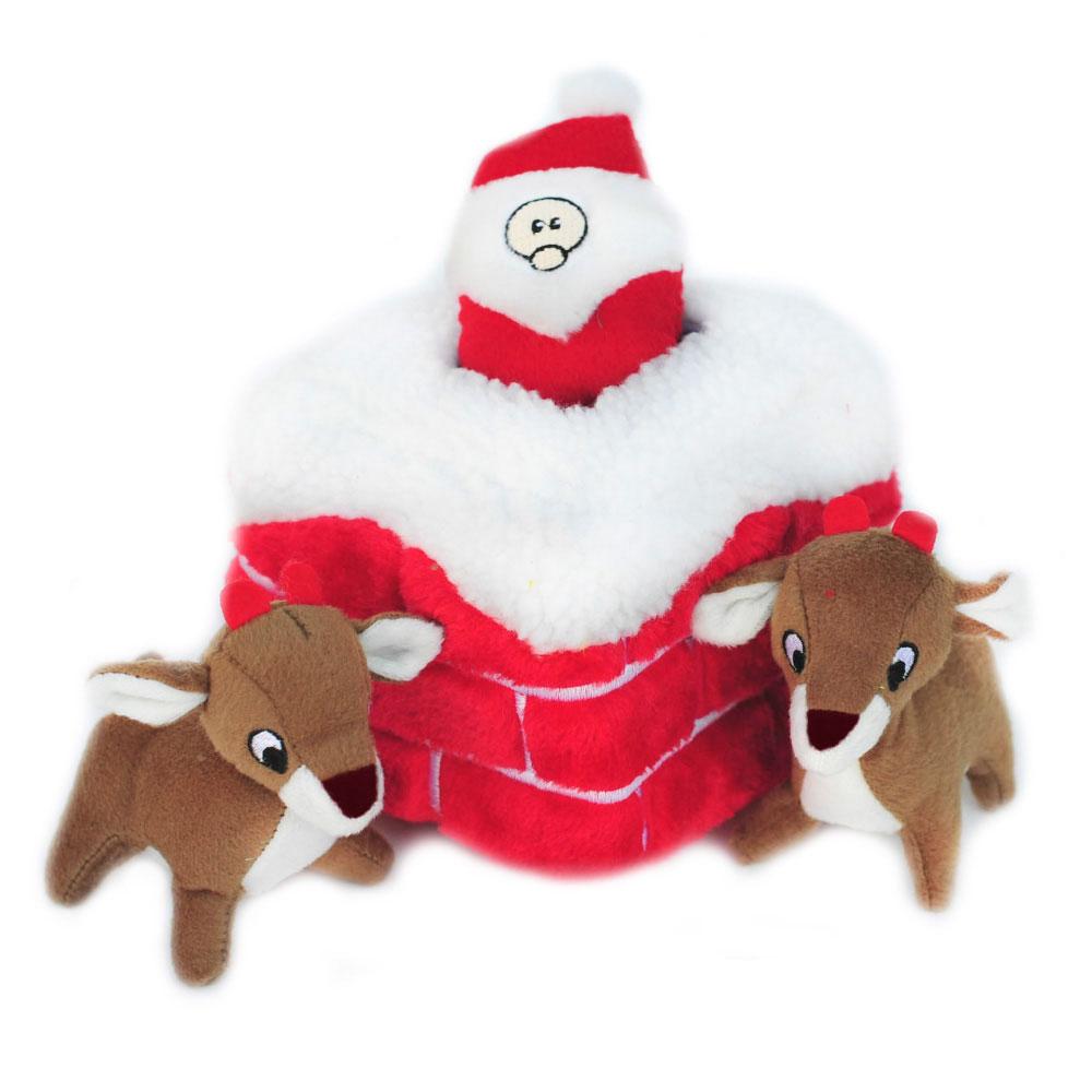 ZippyPaws Holiday Zippy Burrow Chimney Dog Toy