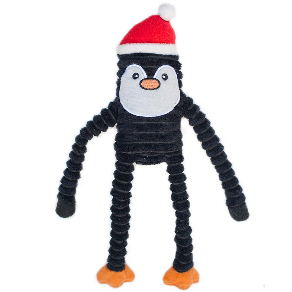 ZippyPaws Holiday Crinkle Penguin Dog Toy, Large