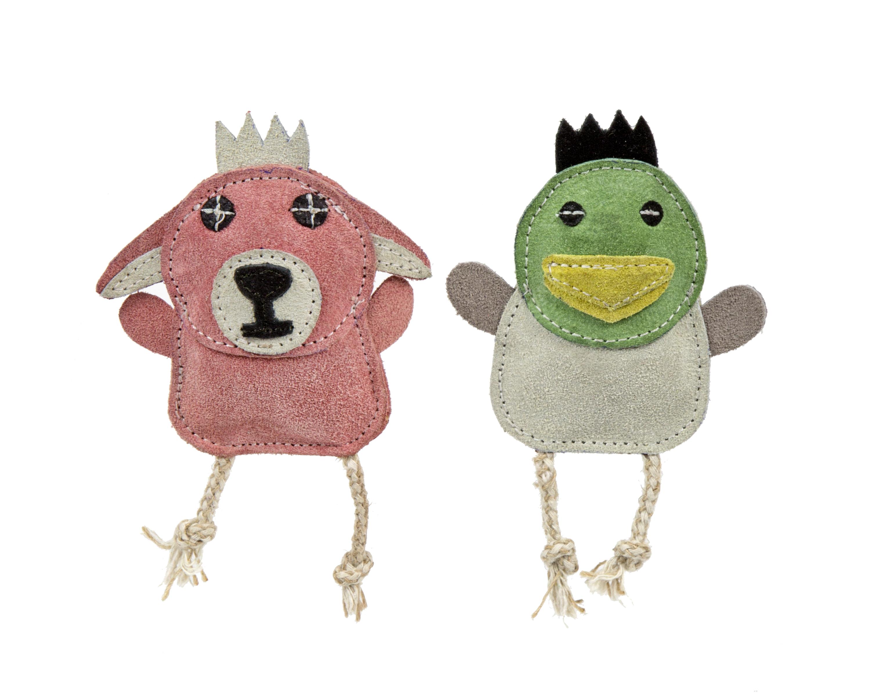 HuggleHounds Wee Buddies Duck & Bunny Dog Toy, 2-pk