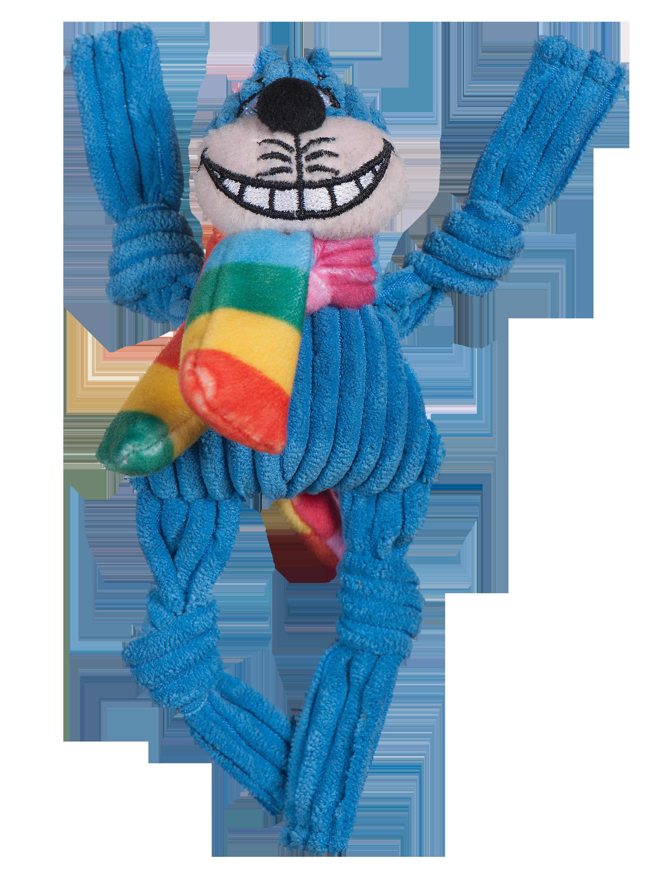 HuggleHounds Rainbow Cheshire Cat Knottie Dog Toy Image