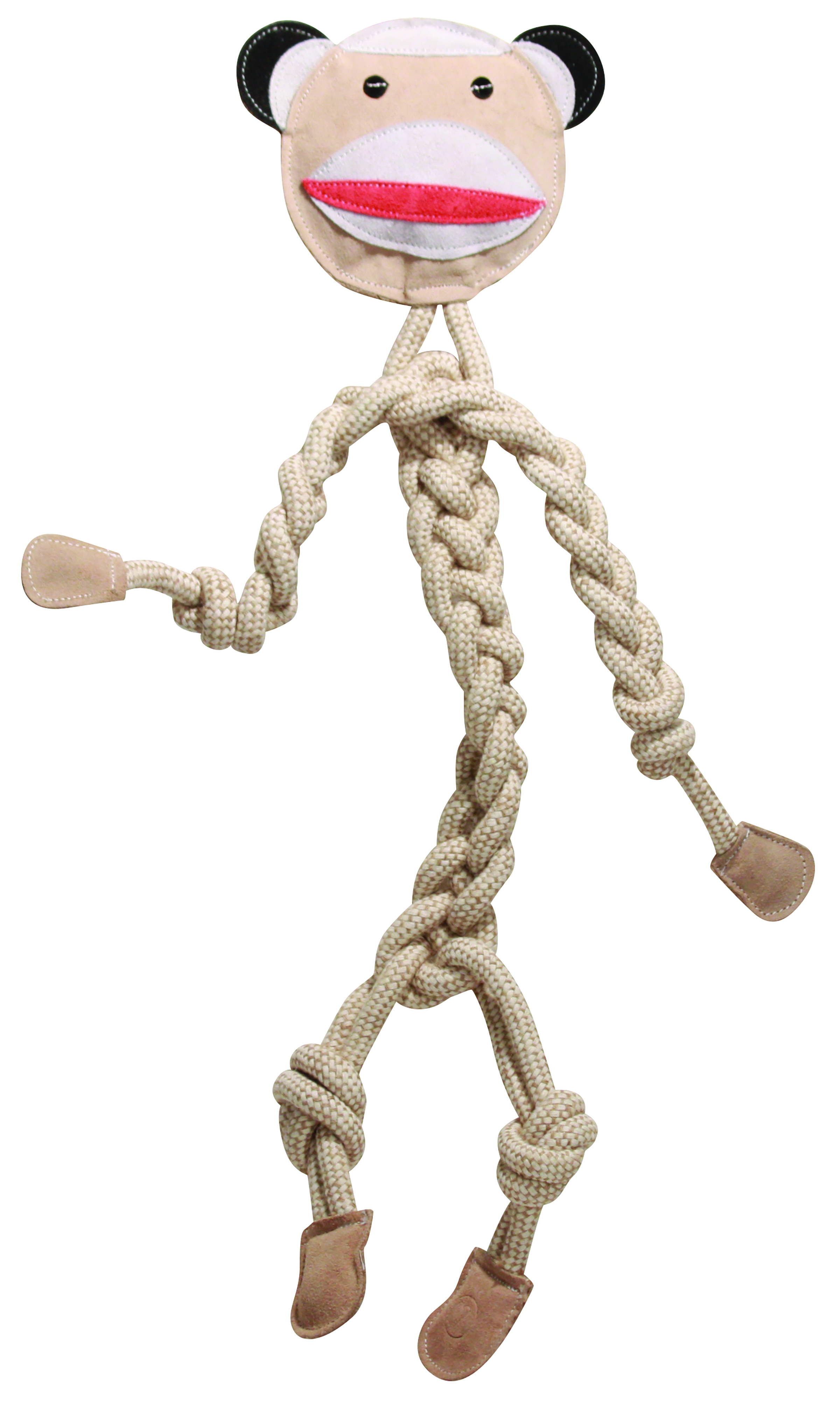 HuggleHounds Rope Knotties Sock Monkey Dog Toy, Regular