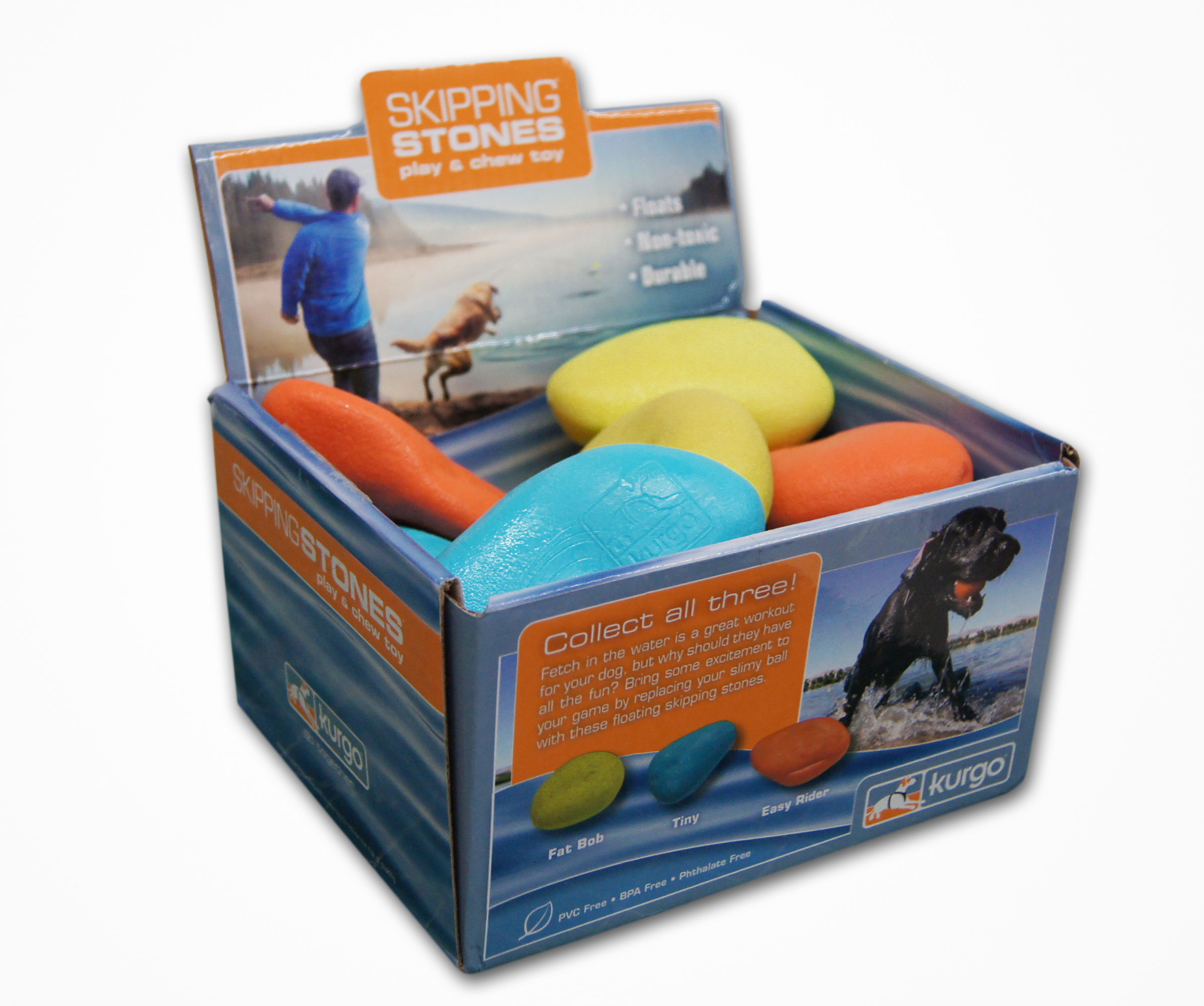 Kurgo Skipping Stones Dog Toy, Color Varies, 1-count