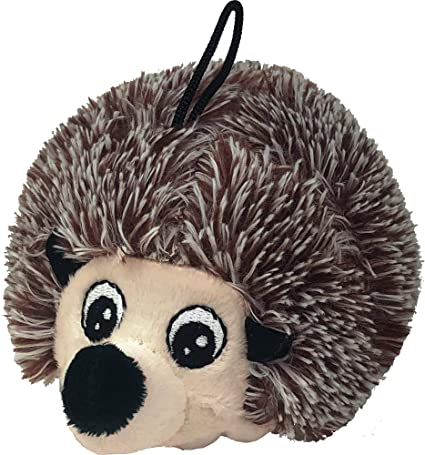 Petlou EZ Squeaky Hedgehog Ball Dog Toy, 4-in