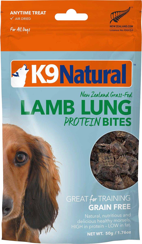 K9 Natural Lamb Lung Protein Bites Air-Dried Dog Treats, 1.76-oz