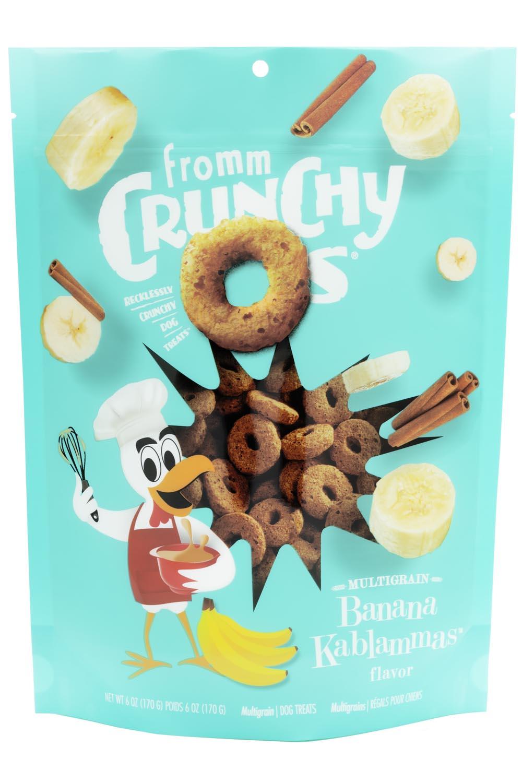 Fromm Crunchy O's Banana Kablamas Dog Treats, 6-oz