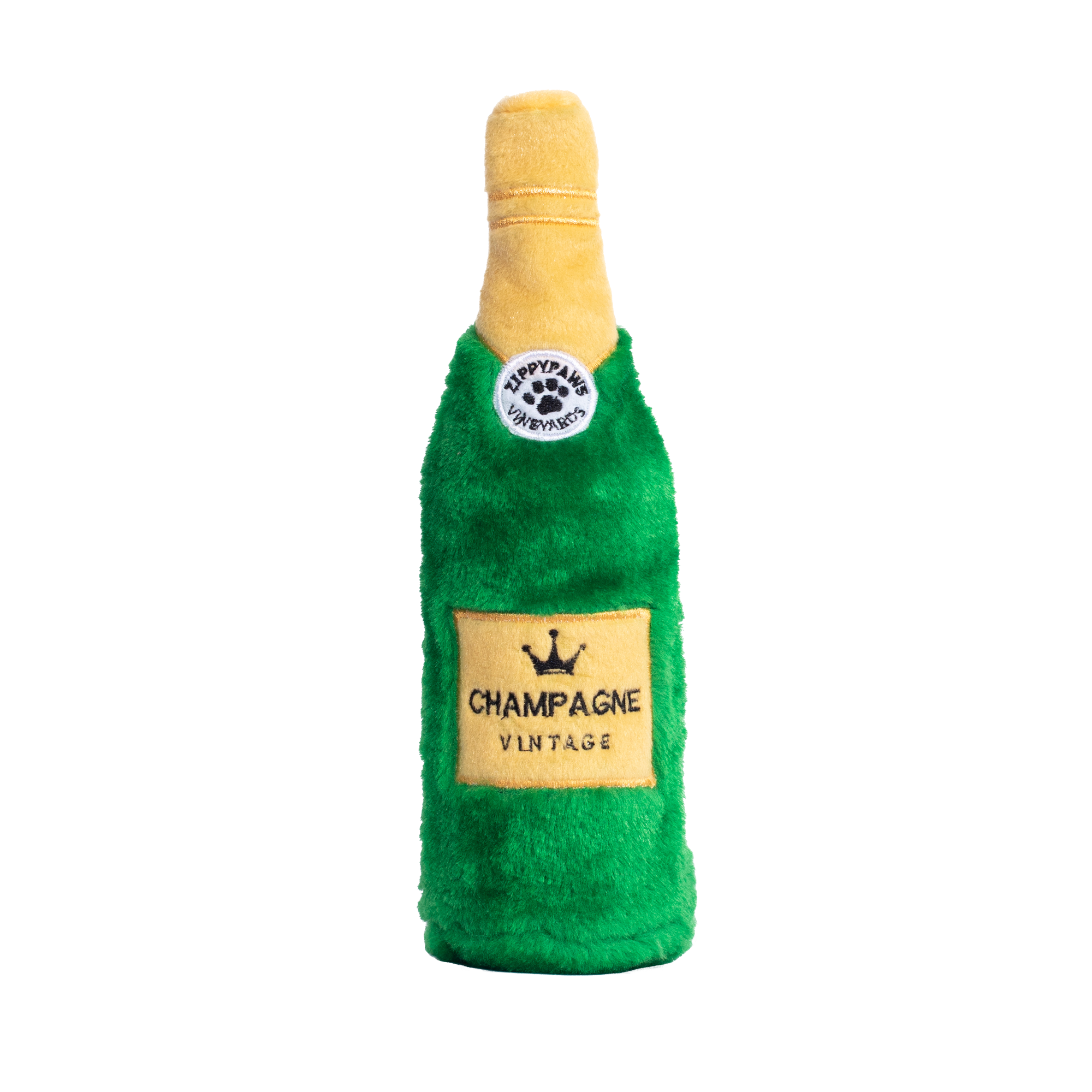 ZippyPaws Happy Hour Crusherz Champagne Dog Toy