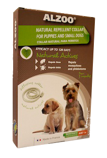 Alzoo Natural Repellent Flea and Tick Collar for Puppies & Small Dogs Image
