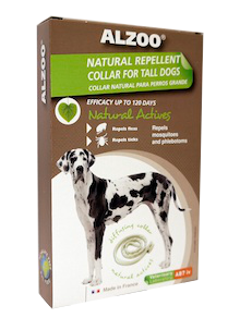Alzoo Natural Repellent Flea and Tick Collar for Tall & Large Dogs Image