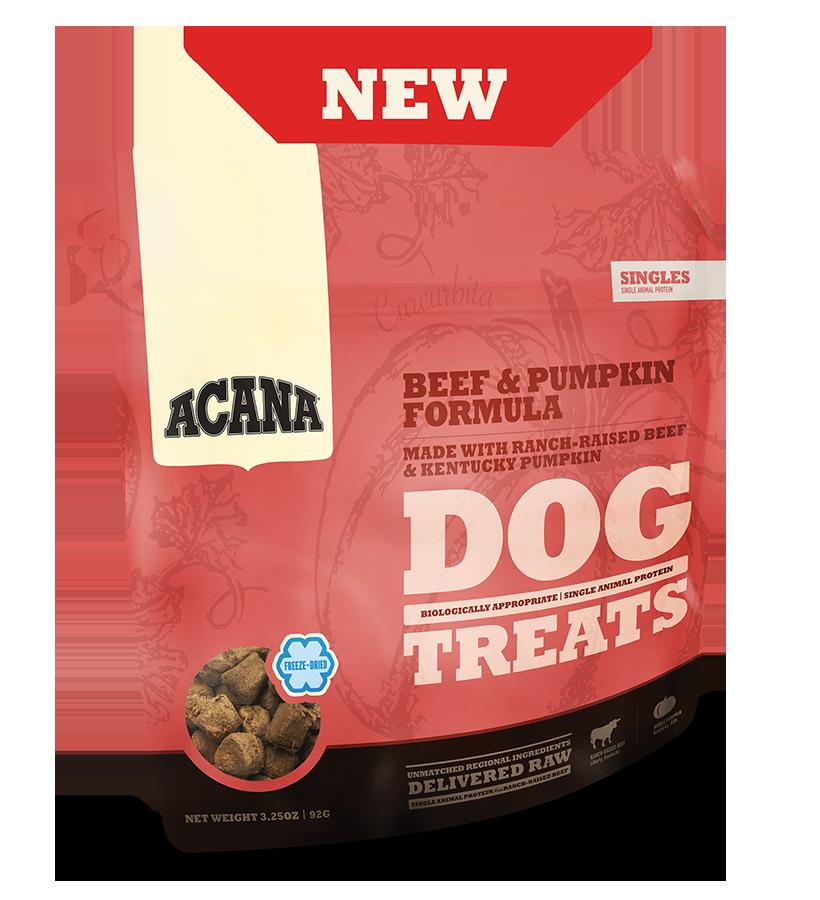ACANA Singles Beef & Pumpkin Freeze-Dried Dog Treat, 3.25-oz