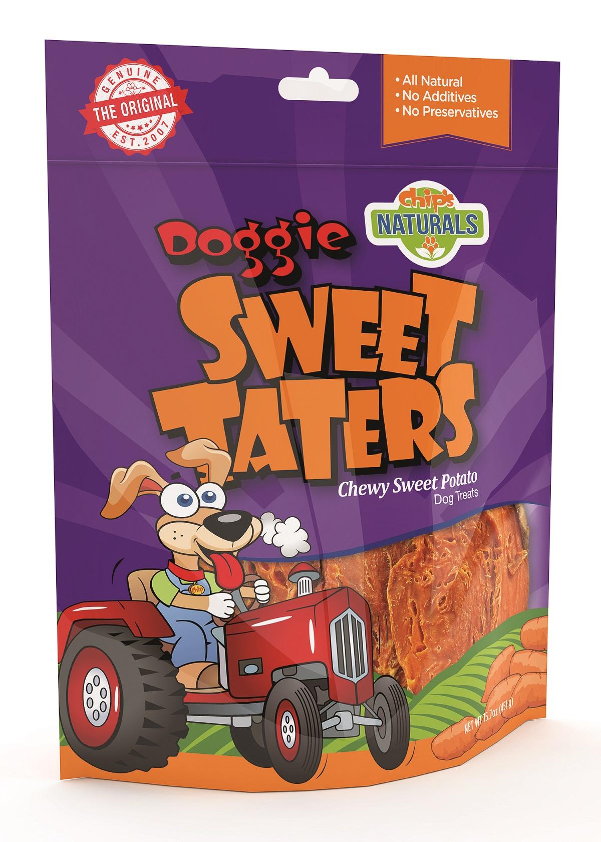 Chip's Naturals Doggie Sweet Taters Dog Treats, 15.7-oz