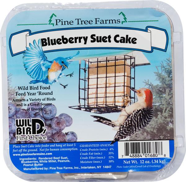 Pine Tree Farms Blueberry Suet Cake Wild Bird Food, 12-oz
