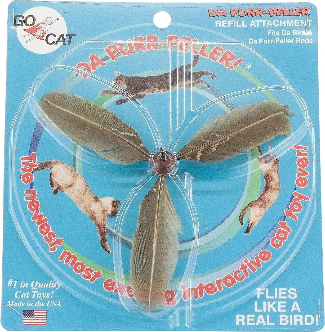 Go Cat Da Purr-Peller Refill Cat Toy