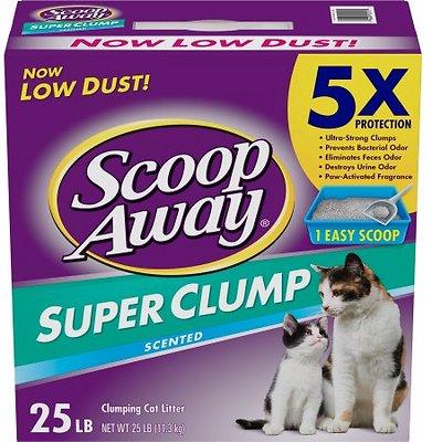 Scoop Away Super Clump Scented Cat Litter, 25-lb box