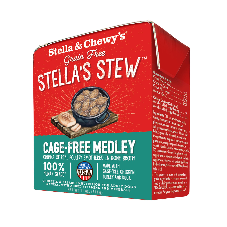 Stella & Chewy's Stella's Stew Cage-Free Medley Wet Dog Food, 11-oz, case of 12