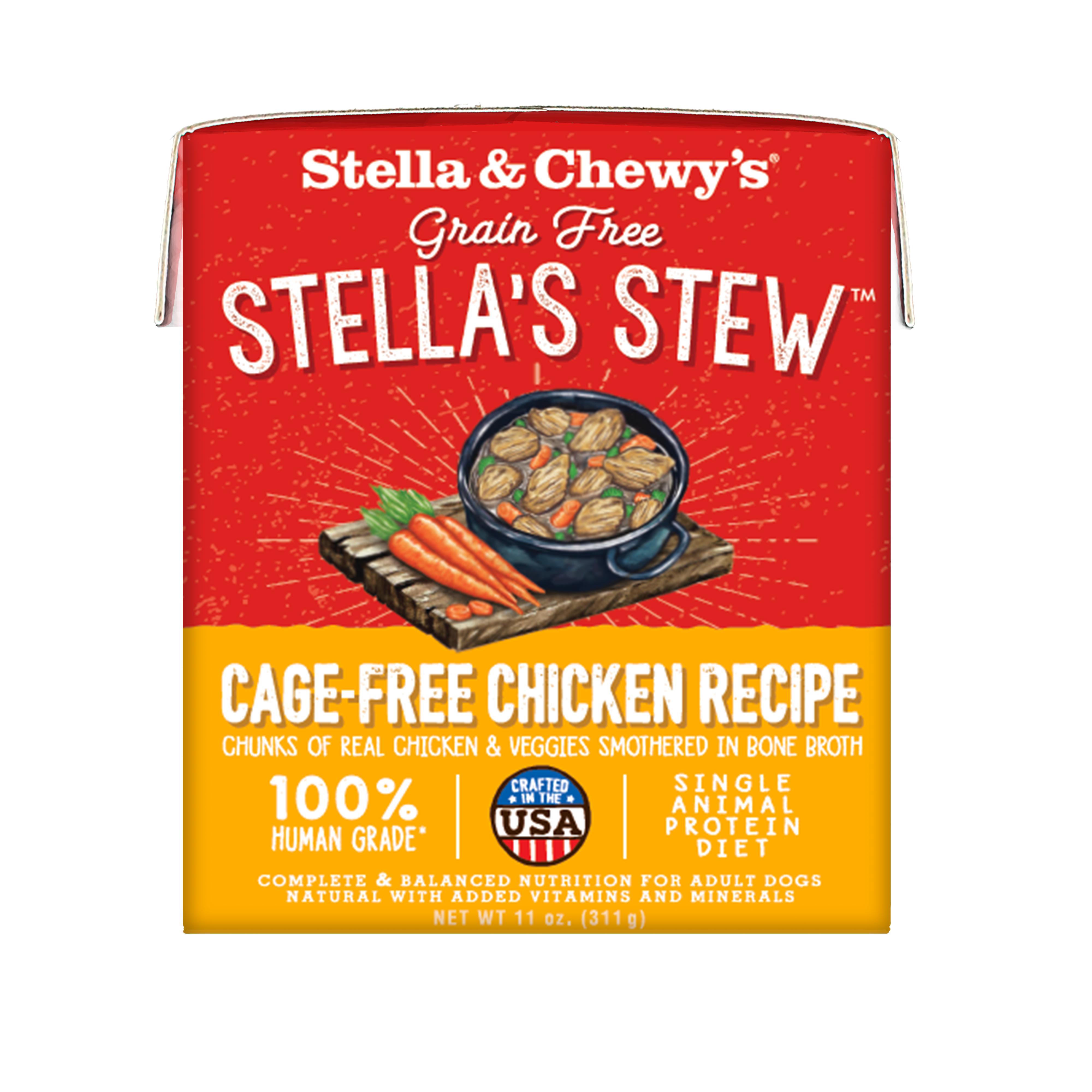 Stella & Chewy's Stella's Stew Cage-Free Chicken Wet Dog Food, 11-oz, case of 12