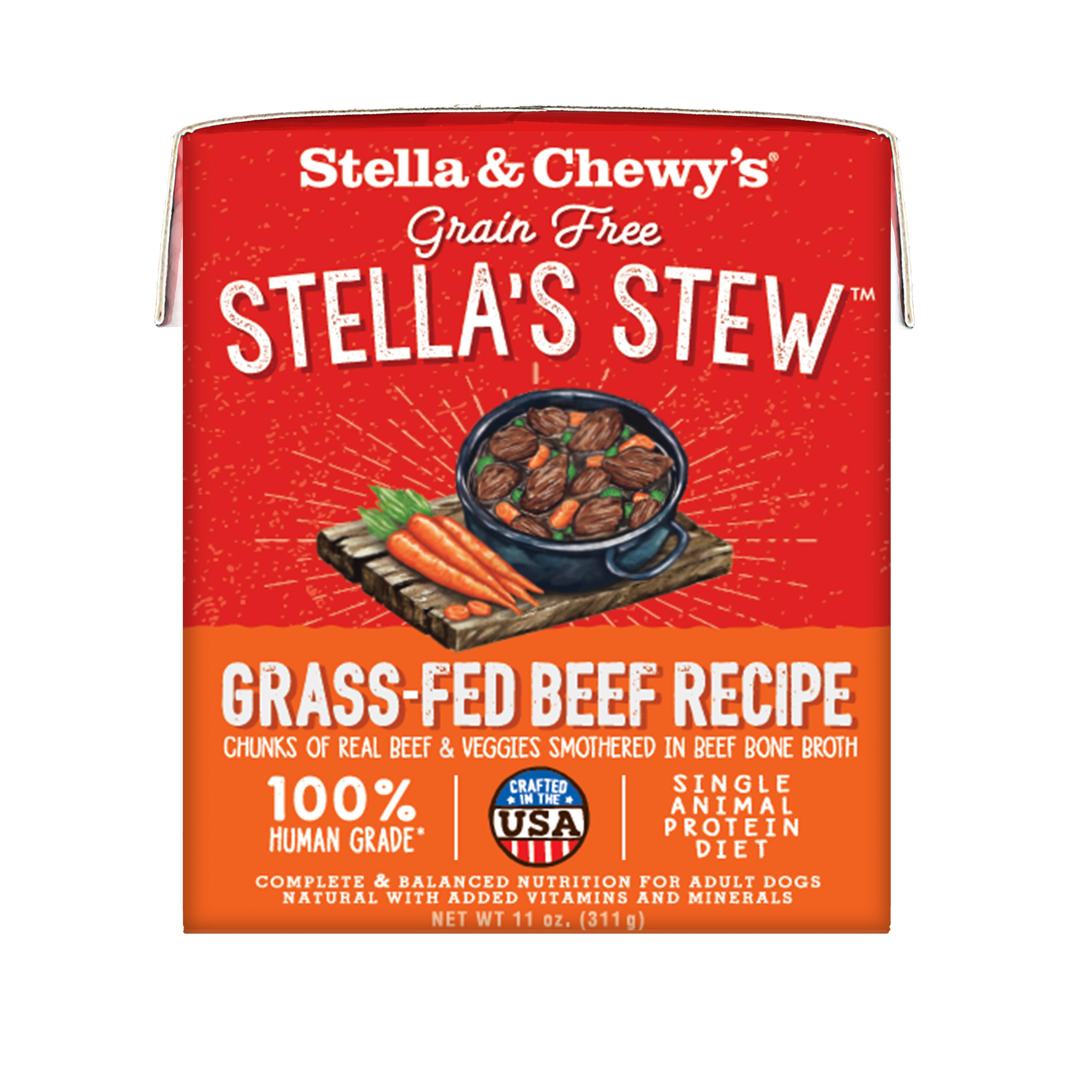 Stella & Chewy's Stella's Stew Grass-Fed Beef Wet Dog Food, 11-oz, case of 12