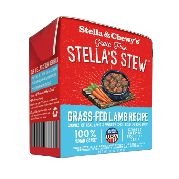 Stella & Chewy's Grass Fed Lamb Wet Food Stew for Dogs, 11-oz, case of 12