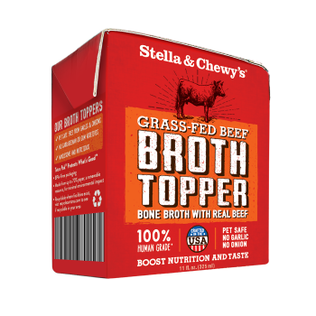 Stella & Chewy's Grass Fed Beef Broth Topper for Dogs, 11-oz, case of 12
