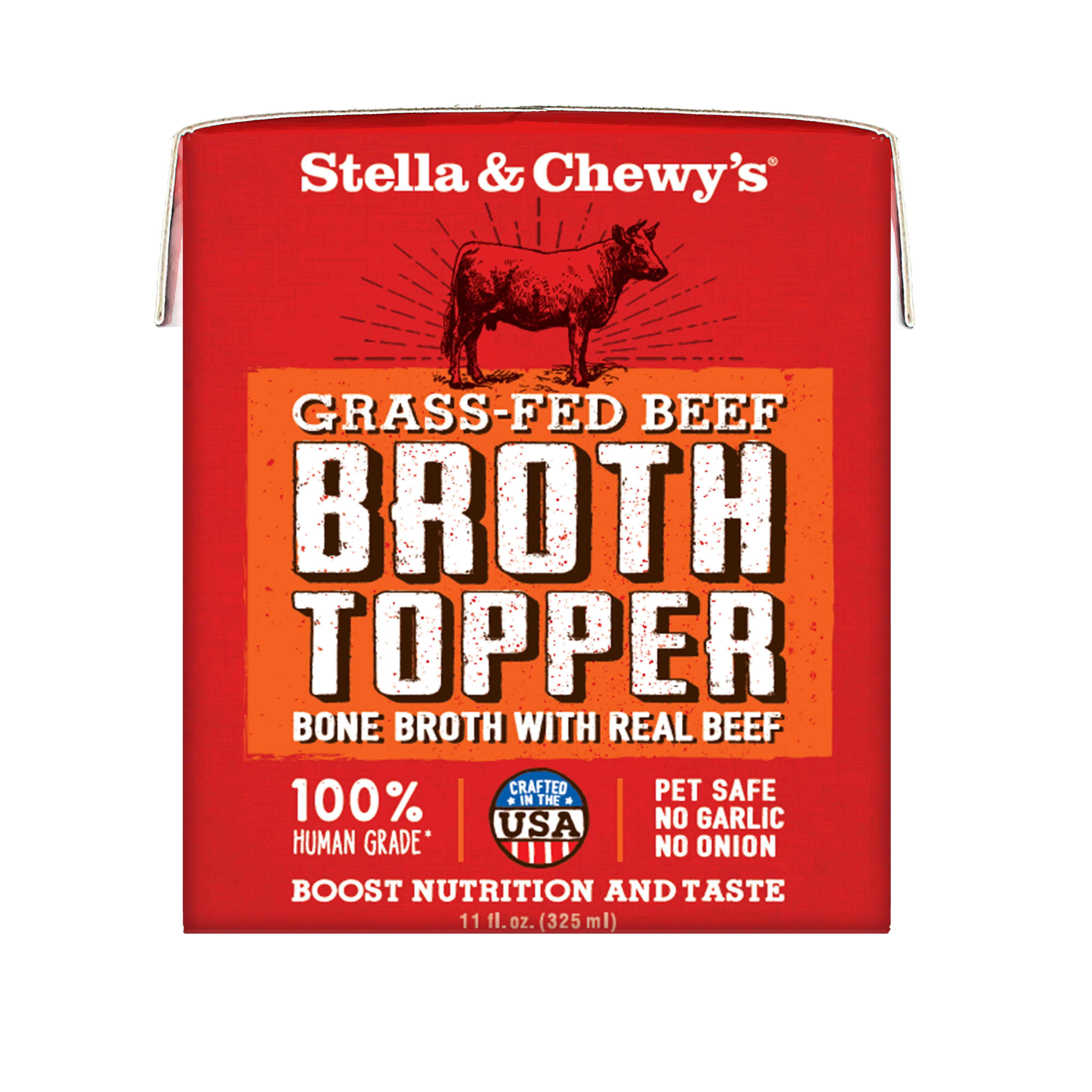 Stella & Chewy's Broth Topper Grass-Fed Beef for Dogs, 11-oz, case of 12