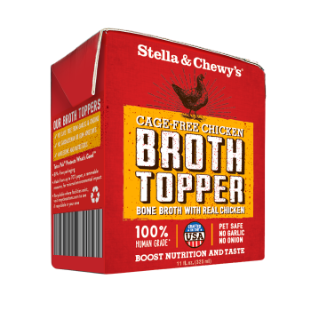 Stella & Chewy's Cage-Free Chicken Broth Topper for Dogs, 11-oz, case of 12