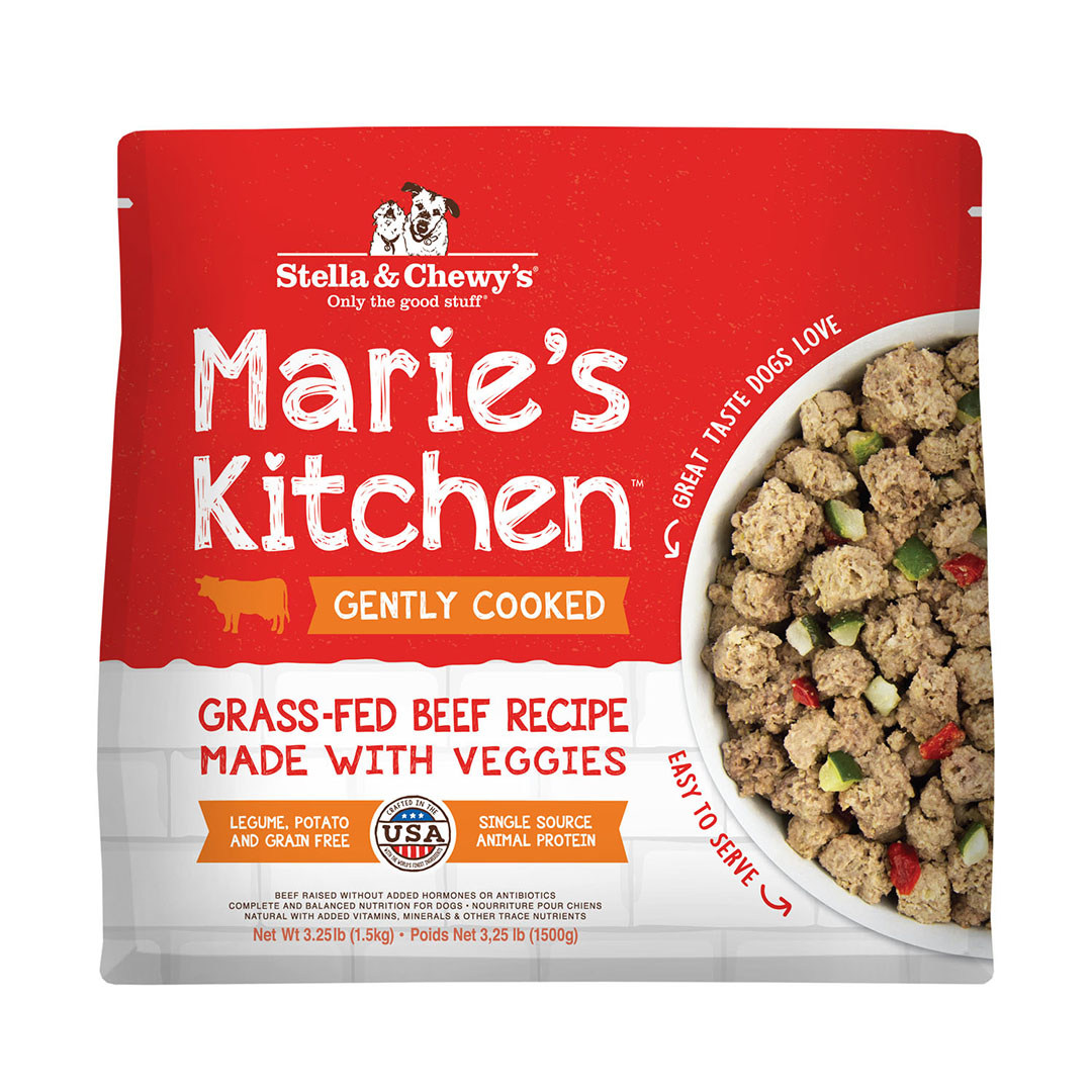 Stella & Chewy's Marie's Kitchen Grass-Fed Beef Recipe Frozen Dog Food, 3.25-lb