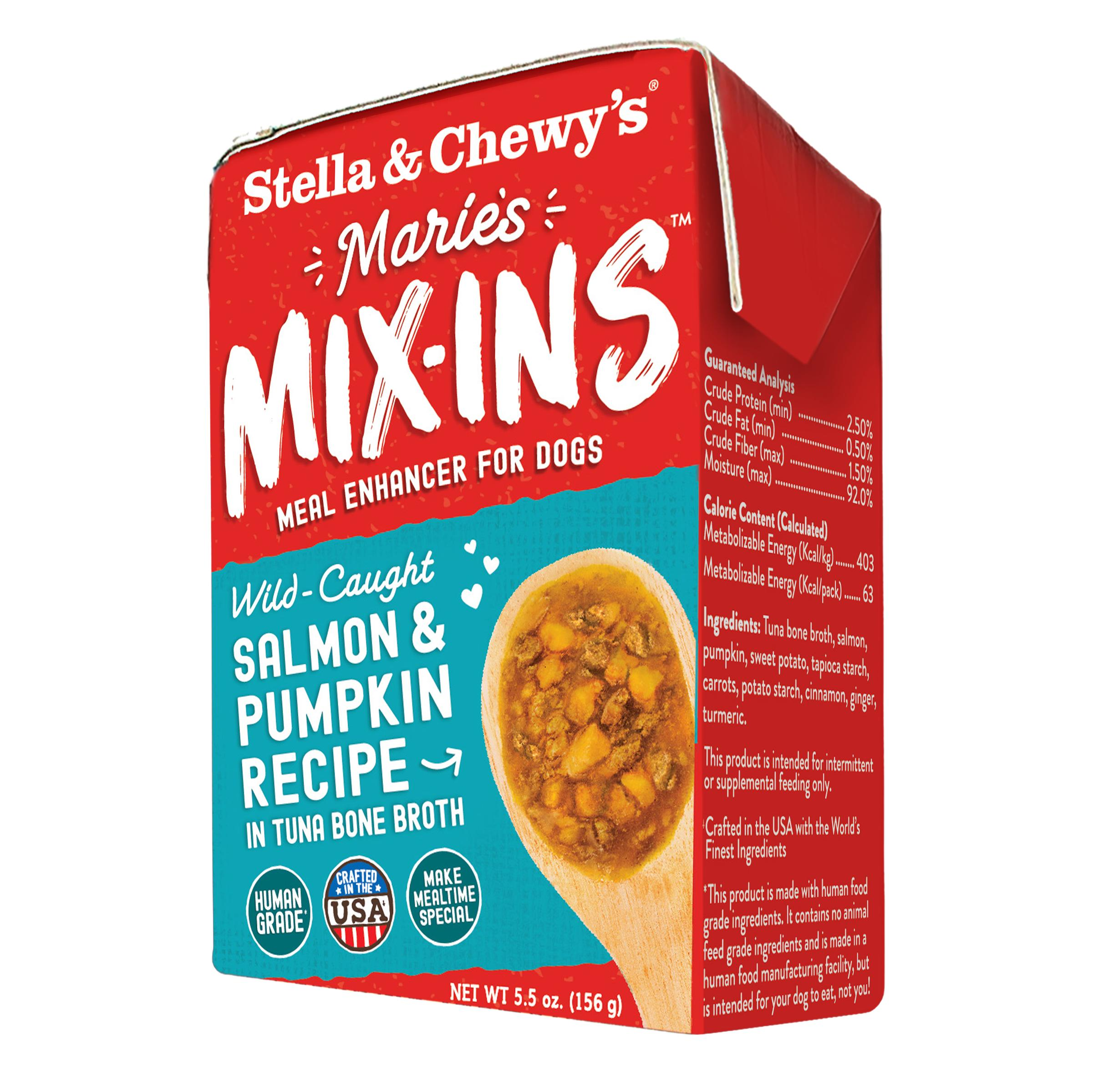 Stella & Chewy's Marie's Mix-Ins Salmon & Pumpkin Recipe Meal Enhancer for Dogs Image