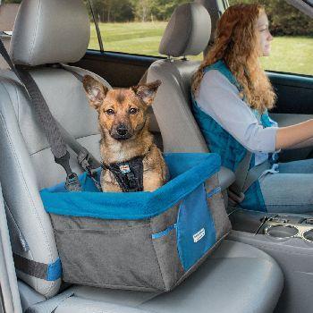 Kurgo Heather Dog Booster Seat, Charcoal