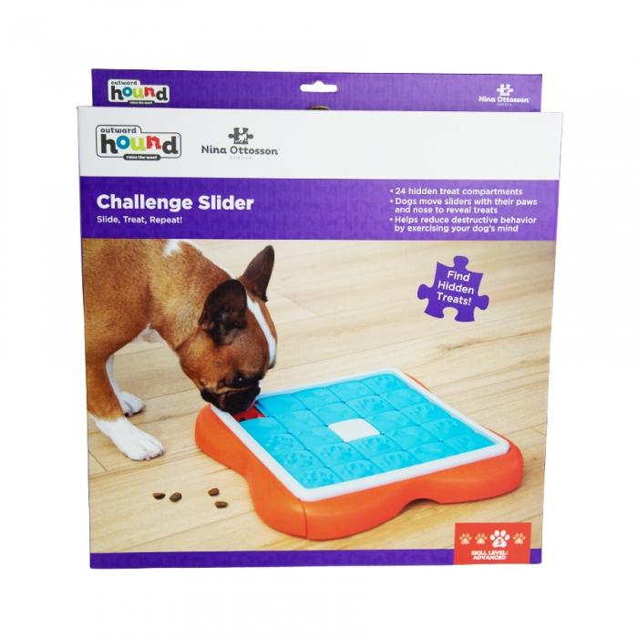 Outward Hound Nina Ottoson - Challenge Slider Treat Dispensing Puzzle Dog Toy