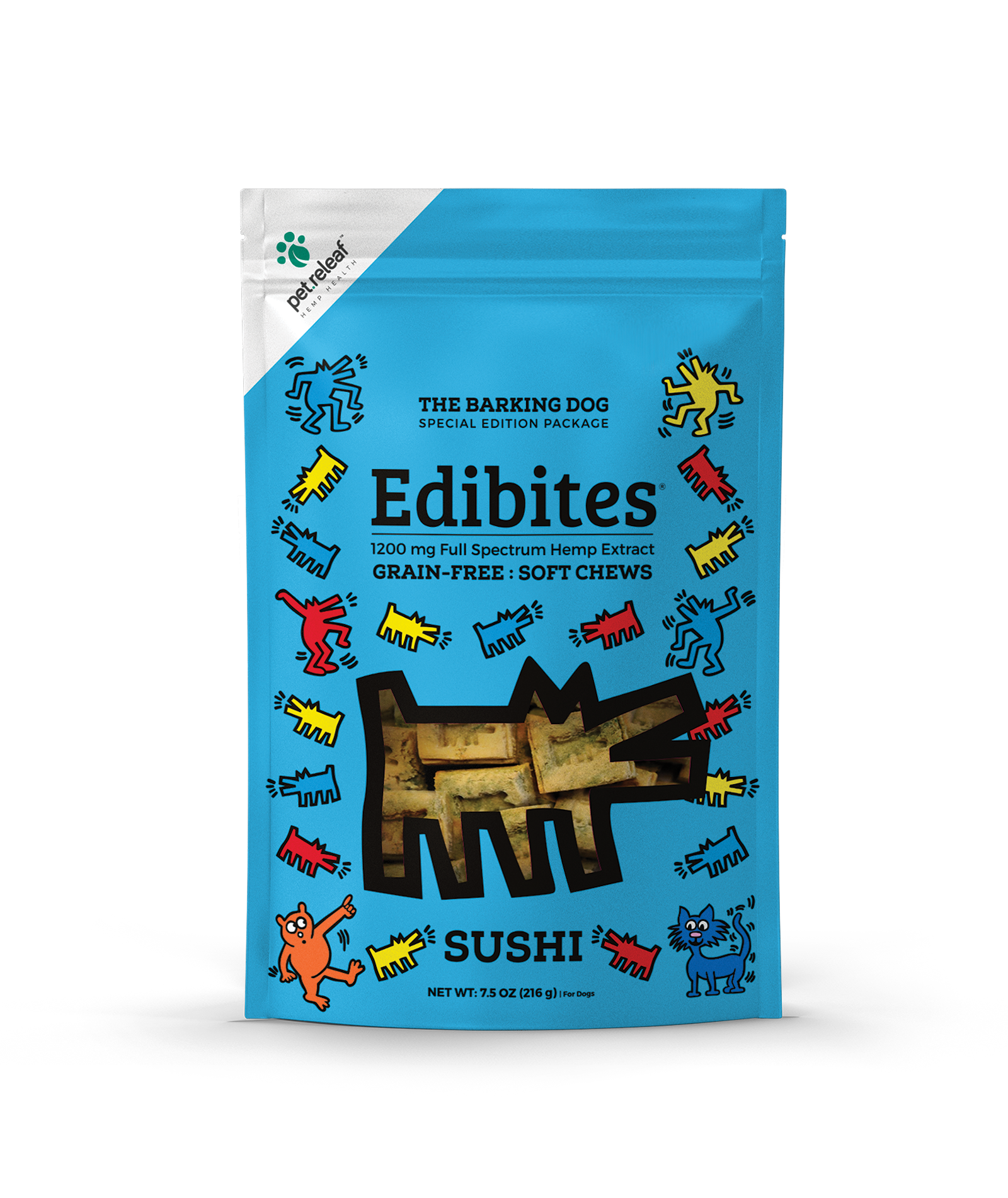 Pet Releaf Edibites Soft Chews Sushi Dog Supplement, 7.5-oz